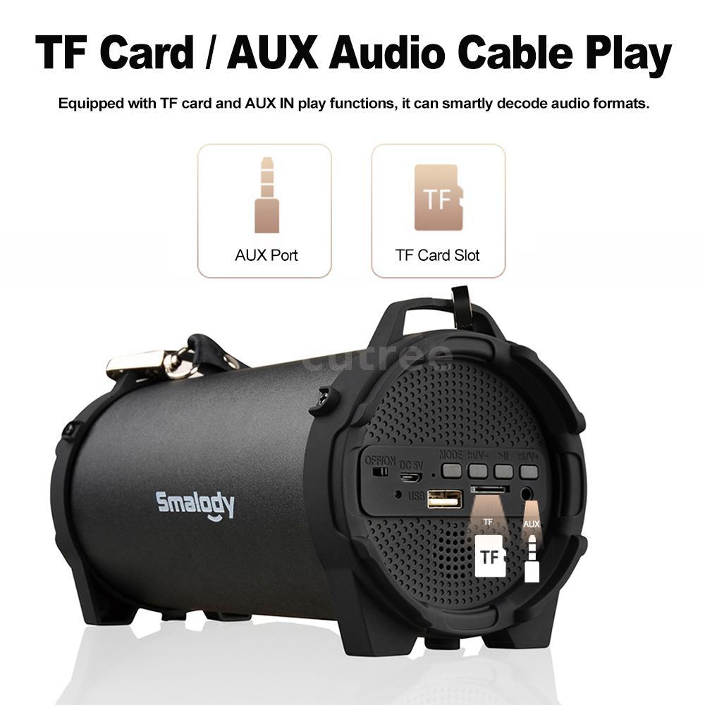 Was Ist Eine Tf Karte.Details Zu Outdoor Soundbox Fm Radio Tf Drahtlose Bluetooth Stereo Lautsprecher Bass Aux Tf